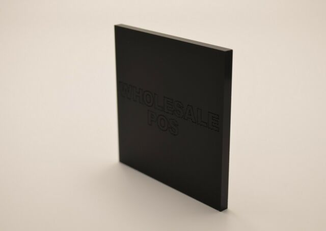 MATT BLACK FROSTED CAST ACRYLIC SHEET PERSPEX S2 9221 MIDNIGHT BLACK 3MM A3 SIZE