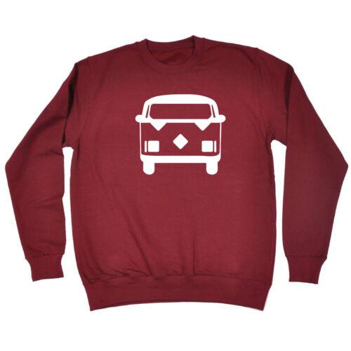 Funny Novelty Sweatshirt Jumper Top Camper Van Bus
