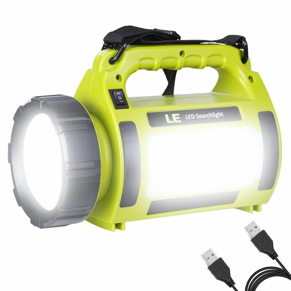 LED Multi-function Torch Light Powerbank 1000 Lumen Rechargeable Searchlight USB