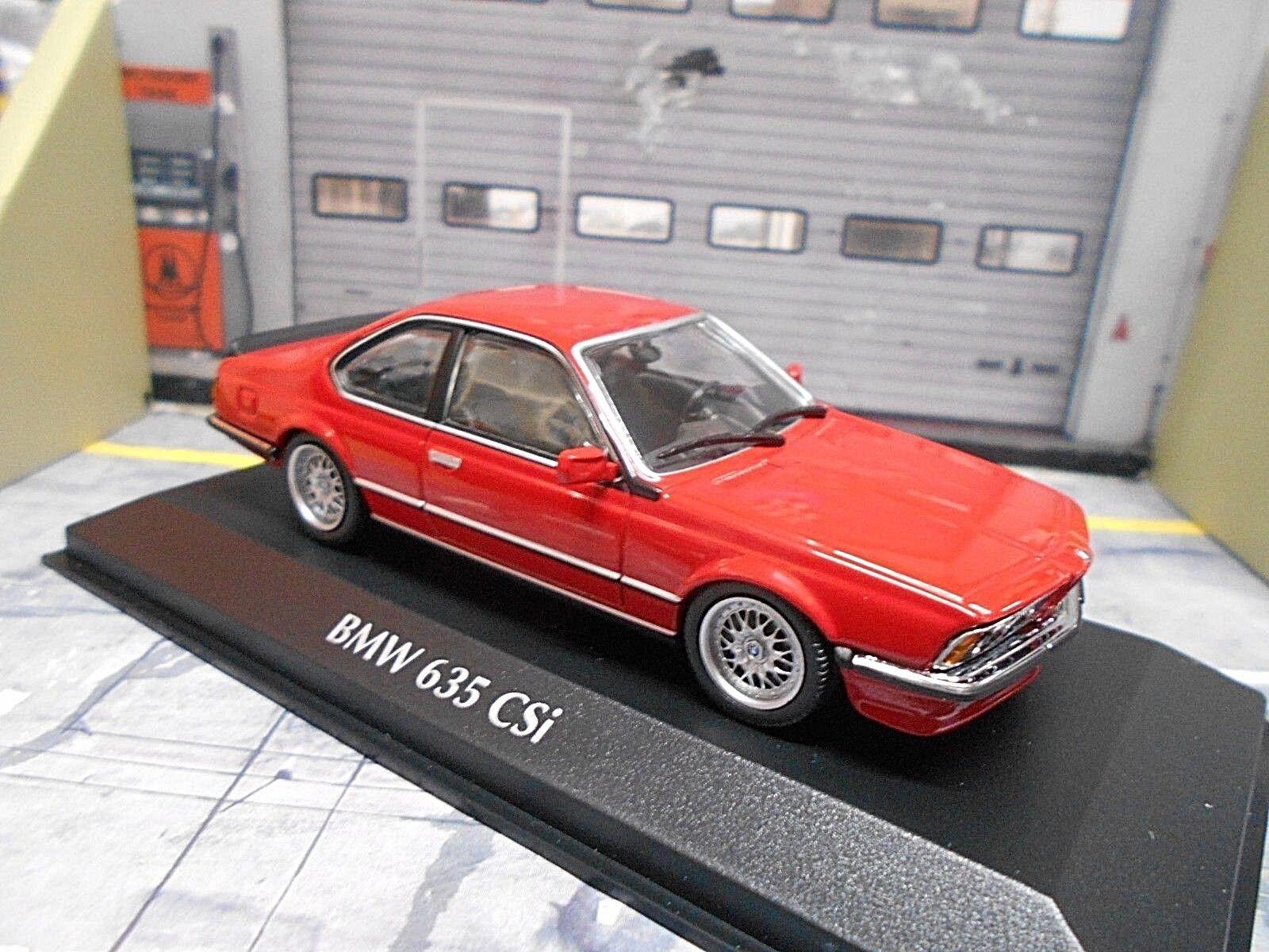 BMW 6er Série Coupe CSI 635 635csi e24 rouge Rouge 1982 nouveau MINICHAMPS 1 43