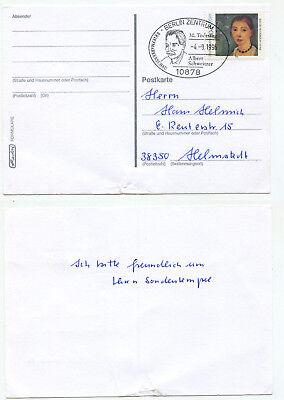08537 - Sonderstempel: Todestag Albert Schweitzer - Berlin 4.9.1996 - Mi.nr 1854 Harmonische Farben