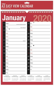 2020 Monthly Wall Planner A3 Calendar One Month To View