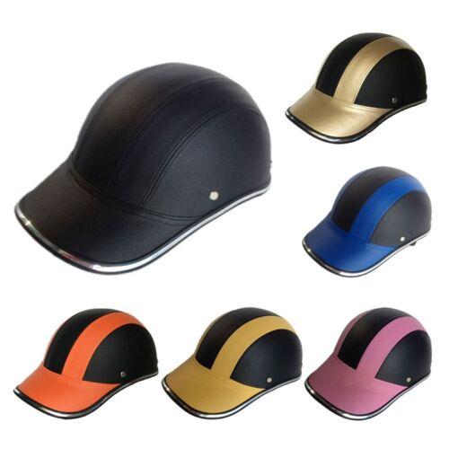Motorcycle Bike Half Helmet Baseball Cap Style Safety Hard Hat Open Face