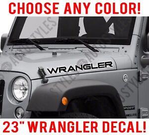 "Jeep WRANGLER Hood Decal Sticker Graphics Rubicon TJ JK CJ YJ 2-23/"""