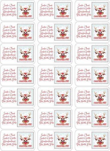21 Santa Christmas Stamp Cachet Lettre Autocollants School Fund Raising Fair