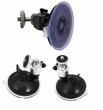 Silver Suction Cup Mount for Camera GPS Vehicle Stand Holder Car Windshield