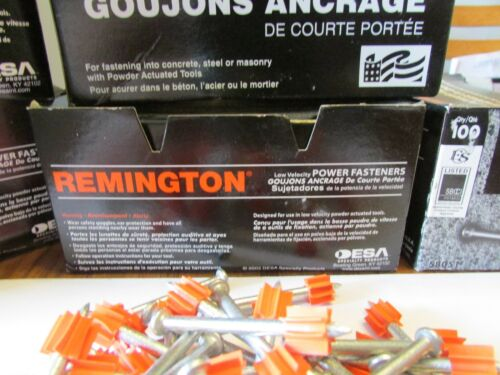 "1000 ramset 2 /"" Concrete Nails Low Velocity Fasteners Remington 51mm 10 Boxes"