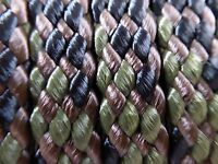 1/2x 100 Ft. Hollow/flat Braid Polyester Rope Hank.high Quality. Camo.usa