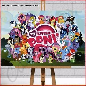 my little pony movie framed canvas print picture girls boys bedroom