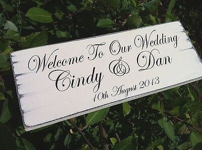 Personalised Wedding Sign Vintage Welcome To Our Wedding Chic