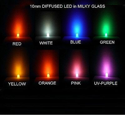 x LED 10mm ultrabright amarillo Yellow transparente #a692 5 unid braguitas
