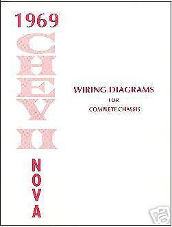 1969 NOVA//CHEVY II  WIRING DIAGRAM  MANUAL