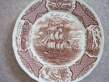 Alfred Meakin England porcelain big plate-dish,Historic America,Fair Winds