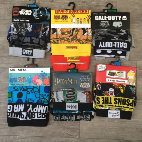 Simpsons Pac-man Boxers Sizes S Star wars 2 Pack Men's Call Of Duty XXL