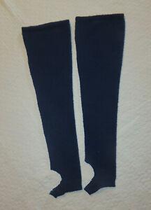 jambières de danse côtelées Bleu céleste en M guêtres adultes INTERMEZZO 2010