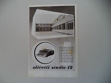 advertising Pubblicità 1940 OLIVETTI STUDIO 42