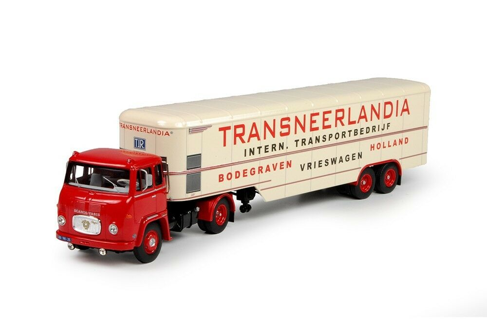 TEK70130 - Camion SCANIA LB76 4x1 avec remorque fourgon aux couleurs du transpor