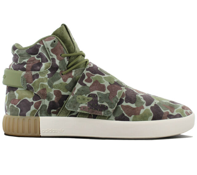 promo code 6c7ef 46e6a Adidas Originals Tubular Invader Strap Camo Camouflage Men's Shoes BB8393  New