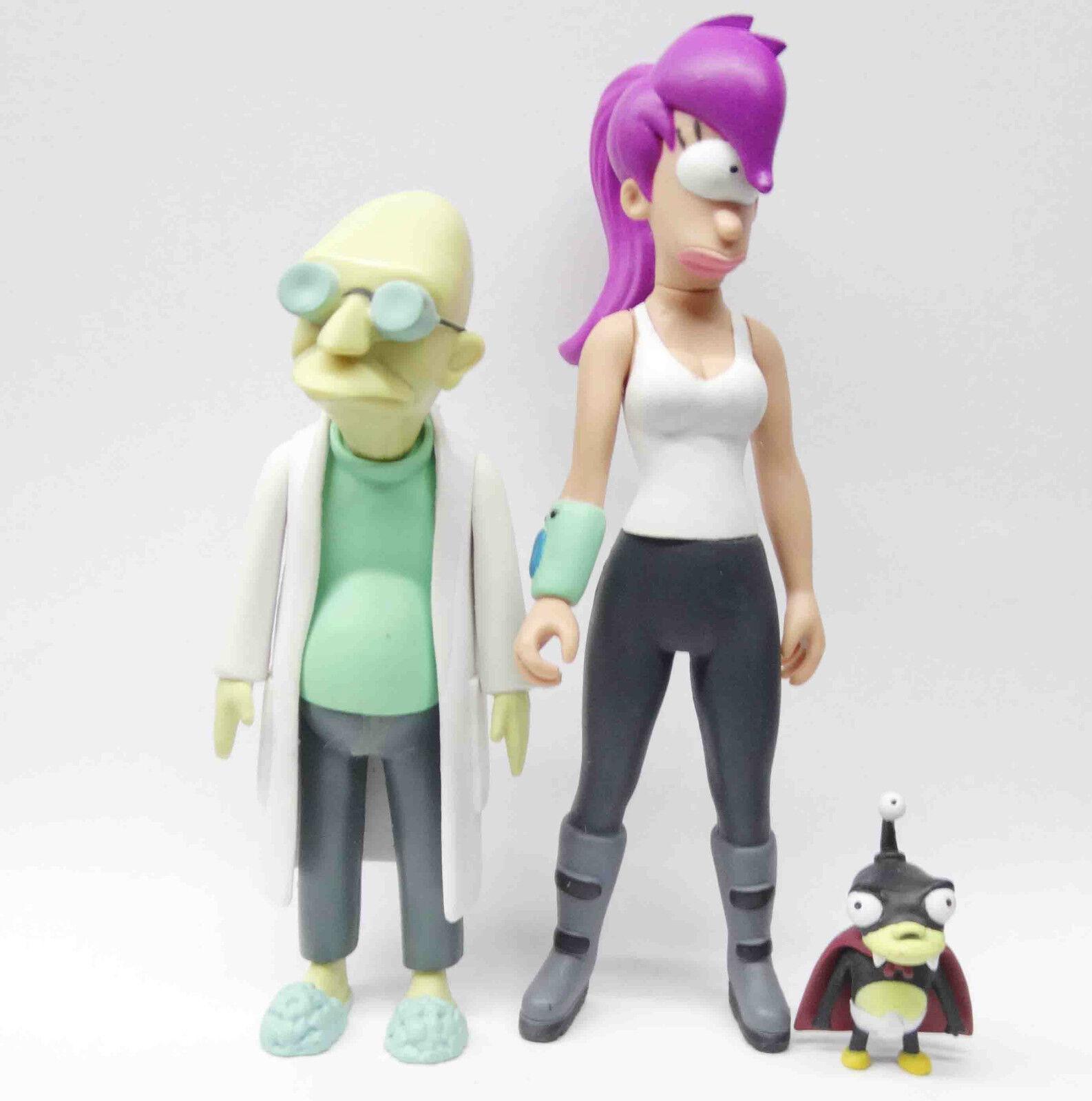 Toynami Futurama Leela PROFESOR FARNSWOR Nibbler Kidrobot action figure rare