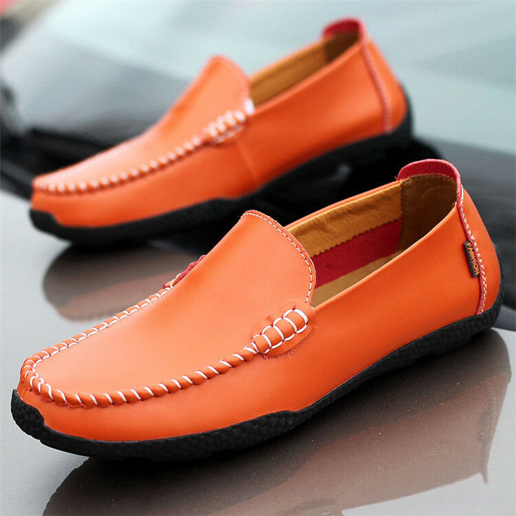 Men's Shoes Driving Casual Boat  Leather Shoes Moccasin Slip On Loafers