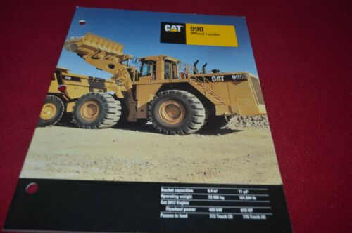 Caterpillar 990 Wheel Loader Dealer/'s Brochure DCPA6 ver