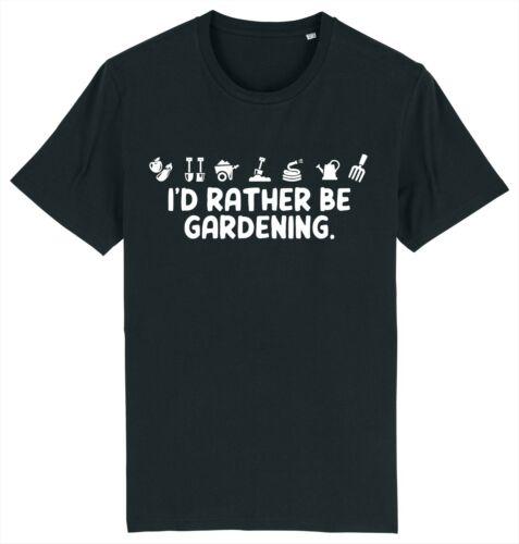 I/'d Rather Be Gardening Funny Gardener Garden T-Shirt