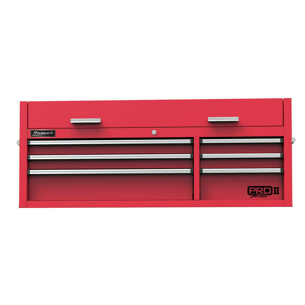HOMAK RD02054602 54 in. 6-Drawer Top Chest (Red) New