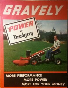 Gravely L LI LS 1960 66HP Lawn Garden Tractor Color Sales Manual 24pg MOW SNOW - Chewelah, Washington, United States - Gravely L LI LS 1960 66HP Lawn Garden Tractor Color Sales Manual 24pg MOW SNOW - Chewelah, Washington, United States
