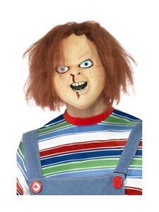 Nuevo-Adultos-con-Licencia-Chucky-Mascara-de-Latex-Ninos-Jugar-Disfraz-Halloween