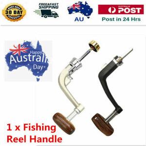 1x metal handle fishing reel crank crank arm spinning reel fishing reel winUULK