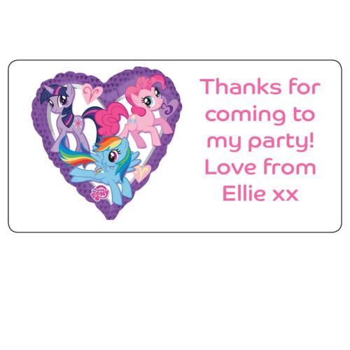 Mon petit poney personnalisé Étiquettes Merci Parti Adresse Stickers 34x64mm 067