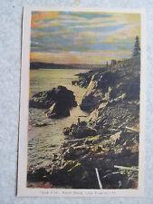 Jack Fish North Shore Lake Superior-15 PE CO Ottawa postcard,rocks,sky,clouds