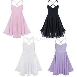 Girl Kids Ballet Tutu Princess Dress Dance Wear Costume Gymnastics ... 0e1bc142f558
