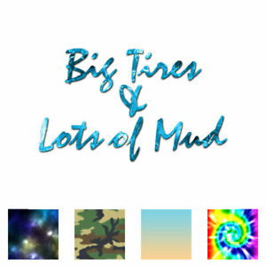 Big-Tires-Lots-Mud-Truck-Decal-Sticker-Multiple-Patterns-amp-Sizes-ebn3016