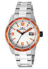 New Invicta Men's INVICTA-14118 Pro Diver Orange Accent Silver Watch