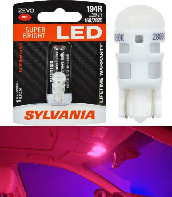 Sylvania ZEVO LED Light 194 Red One Bulb Interior Dome Replacement Upgrade EO