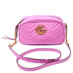 Gucci-Handtasche-Marmont-Mini-Matelasse-GG-Leder-Rosa
