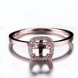 6-75-Round-Diamond-Eternity-Engagement-Vintage-Semi-Mount-Ring-10K-Rose-Gold