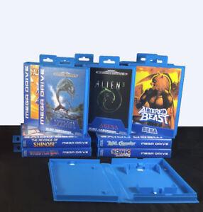 Replacement-Game-Case-Cartridge-Box-For-Sega-Mega-Drive-Art-Work-You-Choose