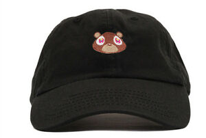 5b9872c2 Image is loading Kanye-West-Dropout-Bear-Dad-Hat-Embroidered-Drake-