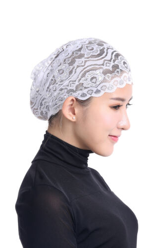 Muslim Inner Caps Women/'s Hijab Lace Hat Islamic Bonnet Head Cover Underscarf