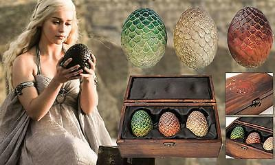 GAME OF THRONES Licensed Daenerys WEDDING Gift Boxed DRAGON EGG Set Prop REPLICA