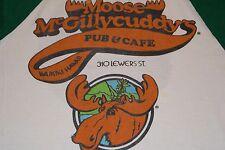 vtg '83 Moose McGillycuddy's Waikiki Hawaii Raglan t shirt Moosehead Beer M S/M