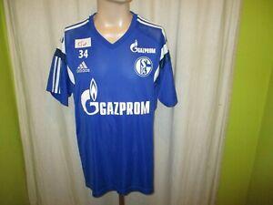 FC-Schalke-04-Adidas-Spieler-Freizeit-Training-Trikot-2014-15-Nr-34-Gr-XL