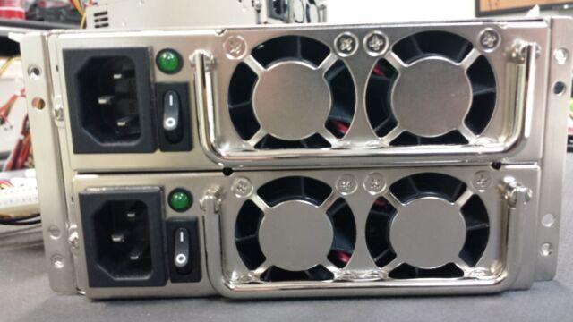 EMACS MRG-6500P 500W Redundant Power Supply W/ 2 Modules