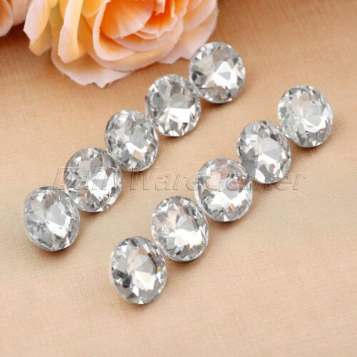 10Pcs Diamond Bright Crystal Upholstery Buttons Bed Decoration 20//25//30mm