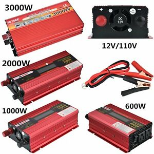 2000w 3000w watt dc 12v ac 110v car power inverter electronic image is loading 2000w 3000w watt dc 12v ac 110v car fandeluxe Gallery