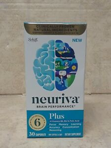 NEURIVA PLUS Brain Performance Health  30 caps Exp 09/22#5500