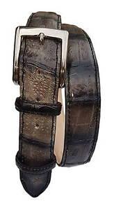 Cintura-3-5-cm-in-Coda-di-Coccodrillo-tinta-a-mano-Unisex