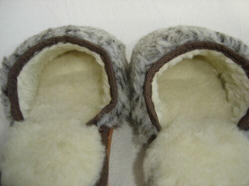 SCHURWOLLE+kuschelig WARME Hausschuhe Pantolette Gr.38 Made in Poland 39